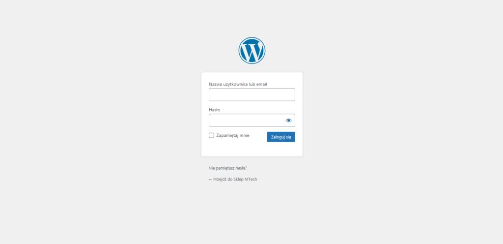 strona logowania do wordpressa